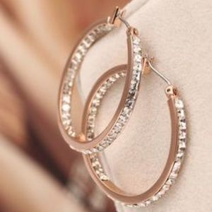 Michael Kors Earrings Rose Gold New